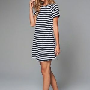 Abercrombie & Fitch Navy Blue Striped Shirt Dress